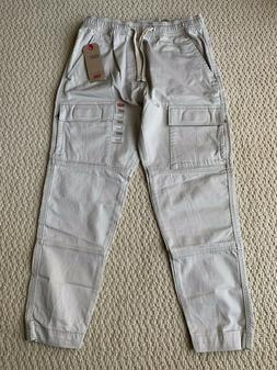 NWT Men's Levi's Stone Gray Utility Cargo Pocket Tapered Jog