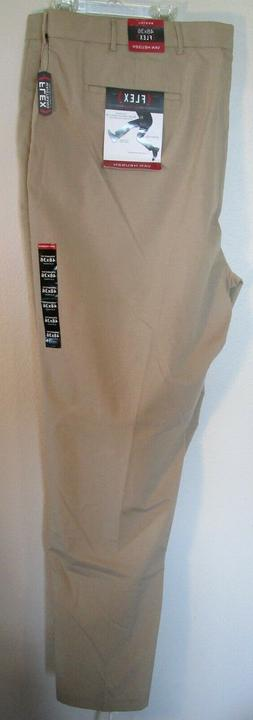 NWT Van Heusen Mens B&T Flex Flat Front Oxford Chino Pants 4