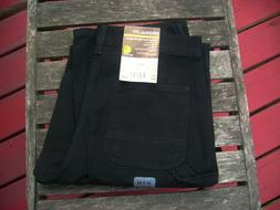 NWT Carhartt Mens B11 Washed Duck Work Dungaree Black Pants