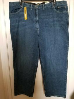 NWT Lee Mens Big And Tall Denim Pants Loose Fit Size 50×32