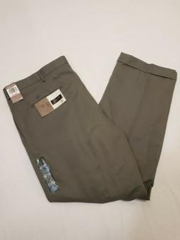 NWT Mens Dockers D4 Premium Relaxed Pleated Cuffed Gray Khak