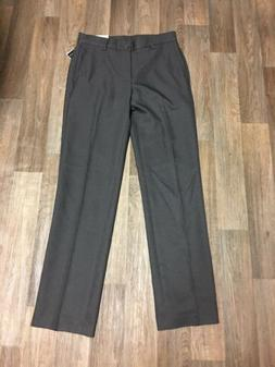 NWT Van Heusen Mens Dress Pants Slim Fit Flat Front Gray Siz