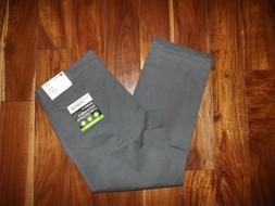 NWT Mens HAGGAR Gray Straight Fit Sustainable Stretch Chino