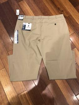 NWT- IZOD Mens Sport Flex Stretch Chino NON IRON- Golf, Wick