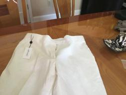 NWT CALVIN KLEIN - STRAIGHT FIT - CLASSIC WHITE LINEN PANTS