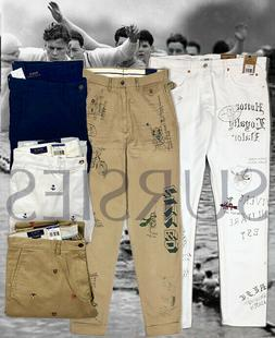 POLO RALPH LAUREN PANTS Mens CHINOS & JEANS Nautical Crest O