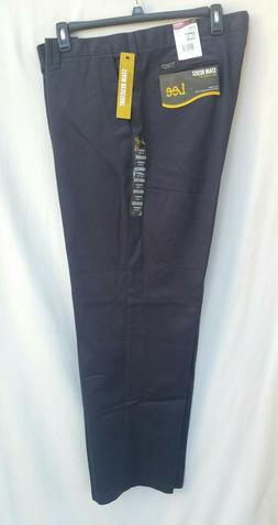 Lee Pants Stain Resist Relaxed-Fit Flat-Front Navy Mens Big