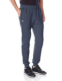 Champion Men's Powerblend Retro Fleece Jogger Pant, Navy Hea