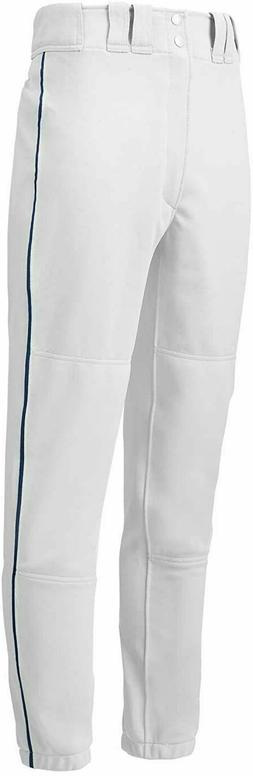 Mizuno Premier Pro Piped G2 Pants, White/Navy, Small
