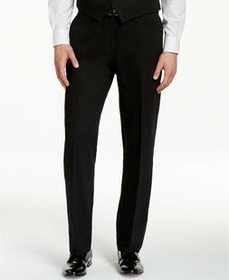 RALPH LAUREN Men's Wool Big & Tall Flat Front Dress Pants Bl