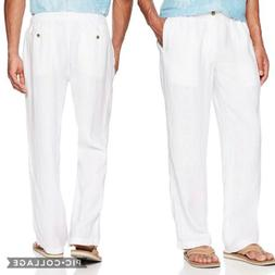 28 Palms | Relaxed Fit 100% Linen Drawstring Pants Mens L