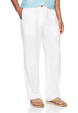 28 PALMS Relaxed-Fit 100% Linen Pants w/Drawstring Mens Sz L