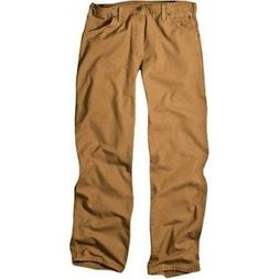 Dickies Men's Relaxed Fit Duck Carpenter Jean, Brown Duck, 4
