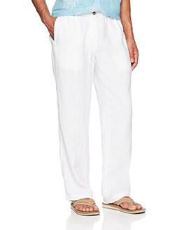 28 Palms Men's Relaxed-Fit Linen Pant with Drawstring, Brigh