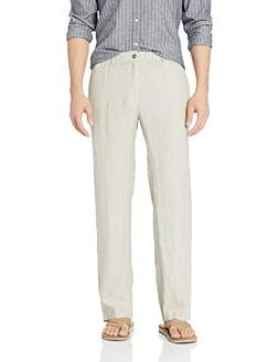 28 Palms Men's Relaxed-Fit Linen Pant with Drawstring, Natur