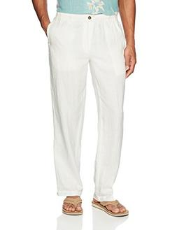28 Palms Men's Relaxed-Fit Linen Pant with Drawstring, Cream