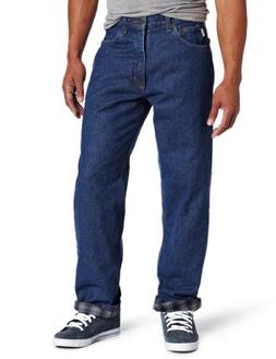 Carhartt Men's Relaxed Fit Straight Leg Flannel Lined,Dark S
