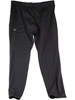Mizuno Running Men's Essential Pant, Black/Charcoal, XX-Larg
