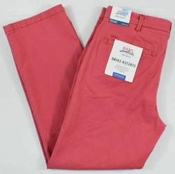 Izod Saltwater #6757 NEW Men's Flat Front Stretch Chino Stra