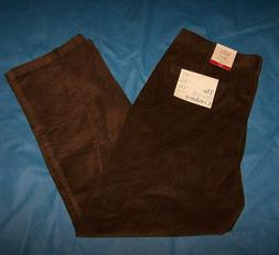Size 42x30 Mens Classic Fit Flat Front Croft & Barrow Cordur