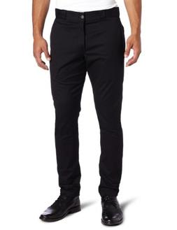 Dickies Men's Skinny Straight Fit Work Pant, Black, 30x32
