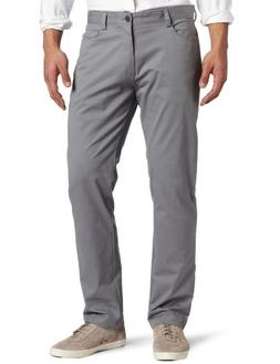 Calvin Klein Men's 4-Pocket Stretch Sateen Pants, Convoy,