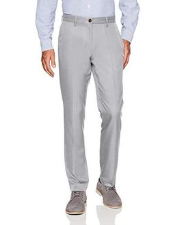 Amazon Essentials Men's Slim-Fit Flat-Front Dress Pants, Lig
