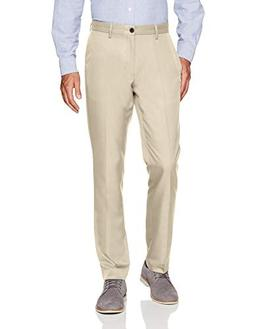 Amazon Essentials Men's Slim-Fit Flat-Front Dress Pants, Sto