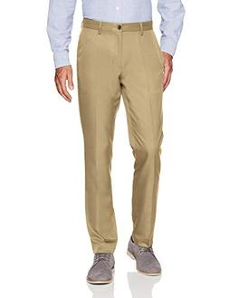 Amazon Essentials Men's Slim-Fit Flat-Front Dress Pants, Kha