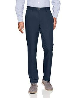 Amazon Essentials Men's Slim-Fit Flat-Front Dress Pants, Nav