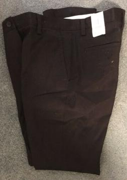 DOCKERS Slim Fit Pleated Front Pants Trousers Black Mens 34x
