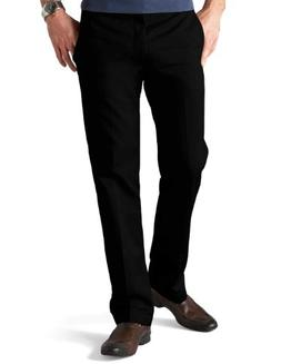 Dockers Men's Slim Fit Signature Khaki Pant D1, Black, 32x32