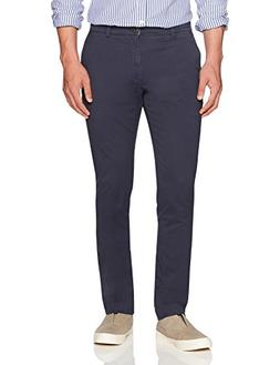 Goodthreads Men's Slim-Fit Washed Chino Pant, Navy, 32W x 32
