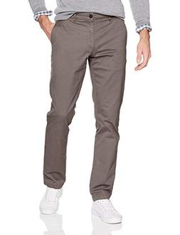 Goodthreads Men's Slim-Fit Washed Chino Pant, Grey, 36W x 28