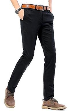 INFLATION Men's 100% Cotton Slightly Stretchy Slim Fit Casua