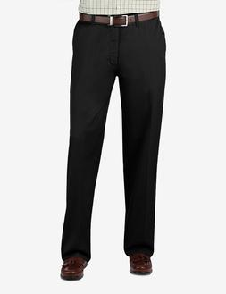 Lee Men's Stain Resistant Relaxed Fit Flat Front Pant, Black