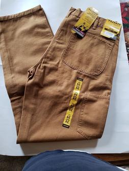 STANLEY CANVAS UTILITY PANTS, MENS. ASSORTED SIZES CAMEL COL