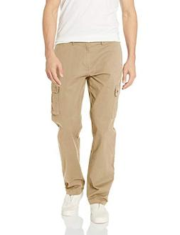 Amazon Essentials Men's Straight-Fit Cargo Pant, Khaki, 33W
