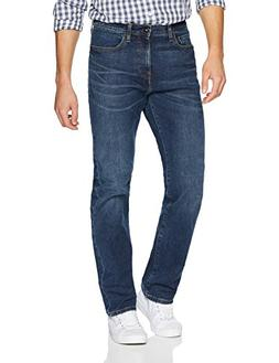 Goodthreads Men's Straight-Fit Jean, Medium Blue, 33W x 28L