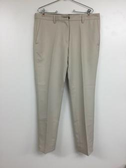 Amazon Essentials Tan Men's Size 34x30 Khakis Flat-Front P