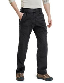 CQR CQ-TLP104-BLK_32W/30L Men's Tactical Pants Lightweight E
