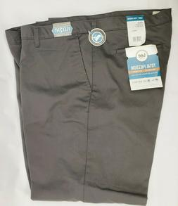 LEE Total Freedom Mens Relaxed Fit Charcoal Gray No Iron Pan
