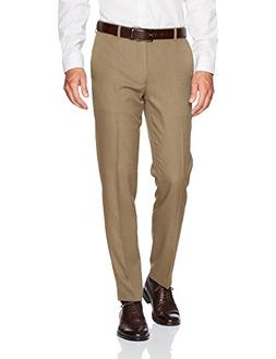 Van Heusen Men's Traveler Slim Fit Pant, Taupe, 32W X 30L