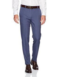 Van Heusen Men's Traveler Slim Fit Pant, Ash Navy, 32W X 30L