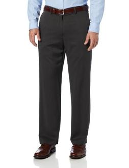 IZOD Men's Ultimate Travel Straight Fit Pant, Charcoal, 33W