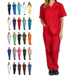 Unisex Scrub Set Men/Women Uniform Medical Hospital Nursing