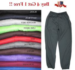 NEW MENS FLEECE 3 POCKET SWEATPANTS GYM SPORTS WORKOUT SWEAT