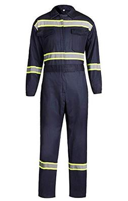Men's High Visibility Work Coverall Reflective Safety Work