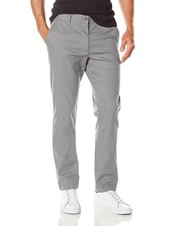 RVCA Men's The Weekend Stretch Chino Pant, Smoke, 32