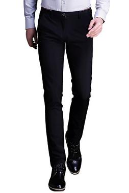 INFLATION Mens Wrinkle-Free Casual Pants Slim-Tapered Stretc